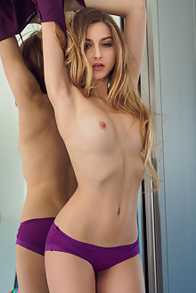 Amelia Gin in Seeing Double by Alex Lynn indoor blonde blue ...