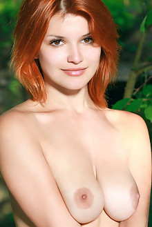 Violla A in Jatota by Matiss outdoor sunny woods river redhead hazel eyes boobies shaved pussy custom