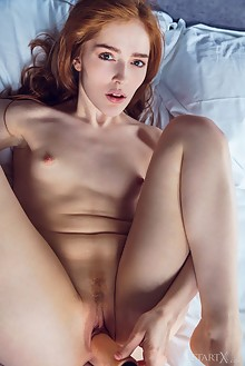 Jia Lissa in Sweet Awakening by Alex Lynn indoor redhead gre...