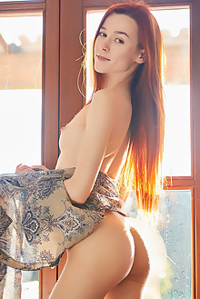 Sherice in Afternoon Sun by Erro indoor redhead sunny brown ...