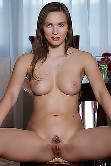 Stacy Cruz in Penthouse Fun by John Chalk indoor brunette boobies trimmed pussy fingering