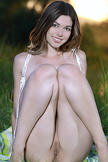 Stefania Beatty in Boho by Matiss outdoor sunny brunette brown eyes boobies shaved pussy