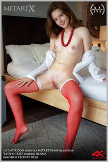 Sienna in Lady In Red by Vicente Silva indoor redhead green ...