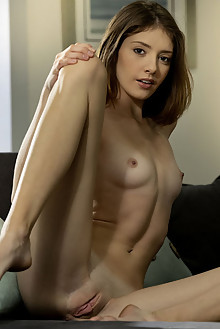 Lena Anderson in Casual Fun by Charles Lightfoot indoor brunette hazel eyes small tits shaved tight pussy ass custom