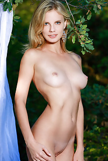 Heidi Hawley in Weley by Matiss outdoor blonde blue eyes woods boobies shaved pussy ass latest