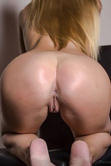 Sarika A in Blonde Beauty by Nick Twin indoor blonde blue eyes boobies shaved pussy fingering ass