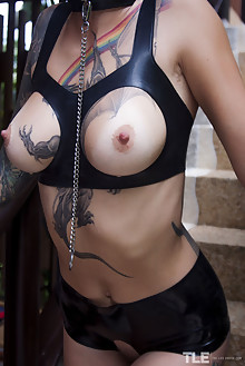 Sasha Beart in Latex Love by Angela Linin outdoor bald tattoo suicide girls boobies shaved pussy labia latest