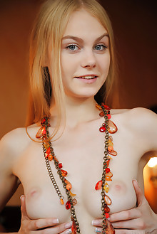 Nancy A in Rolza by Arkisi indoor blonde blue eyes boobies s...