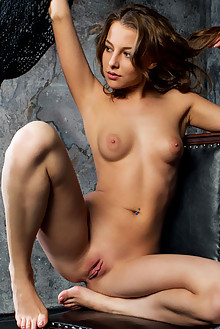 Nikia A in Divine by Rylsky indoor brunette blue eyes boobie...