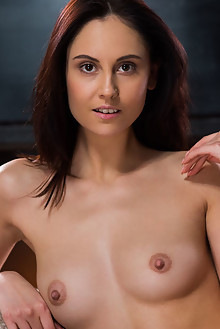 Sade Mare in Henoca by Karl Sirmi indoor brunette brown eyes shaved pussy