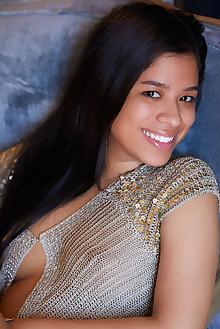 Presenting Karin Torres by Erro latina indoor brunette black hair brown eyes shaved custom