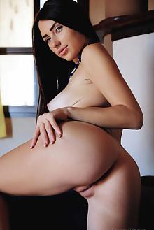 Niemira in Lick Me by Arkisi indoor brunette black hair blue...