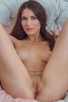 elina acadden alex lynn indoor brunette blue boobies hips shaved ass pussy tight custom