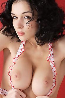 jenya olanu alesha indoor brunette black hair hazel boobies custom