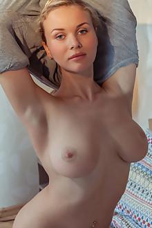 Presenting Caroline Abel by Albert Varin indoor blonde blue eyes boobies shaved pussy latest