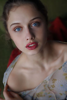 clarice mire arkisi indoor brunette blue shaved pussy