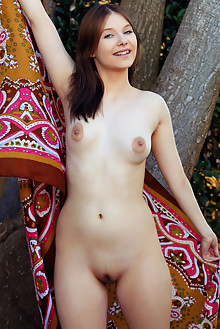 Stasey in Monkey Around by Arkisi outdoor brunette blue eyes shaved pussy tight