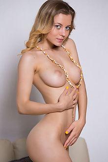 agnes yellow sundress antonio clemens indoor blonde blue boobies