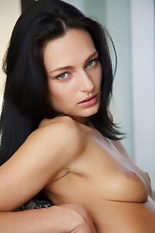 Lee Anne in Relaxing Space by Erro indoor brunette black hair blue eyes shaved pussy custom