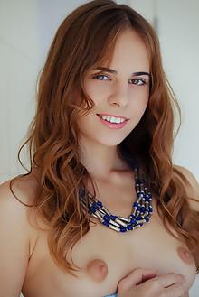 Gracie A in Danhie by Arkisi indoor brunette hazel eyes puff...