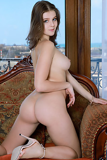 Libby in Like A Diamond by Matiss indoor brunette brown eyes boobies shaved ass pussy