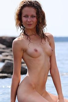 kailin water nymph antonio clemens outdoor brunette green wet beach pussy