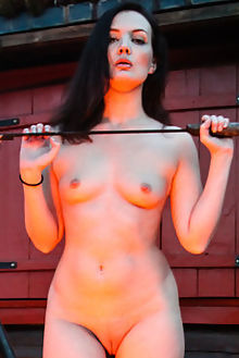 faye taylor love camp freyr outdoor brunette brown shaved pussy fire