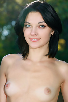 Florina in Fisena by Matiss outdoor brunette black hair blue eyes shaved tight pussy ass latest