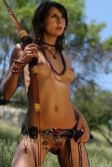 Vetta A in Jungle Queen 1 by Slava Zemskov outdoor brunette