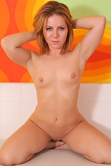 Presenting Sasha D by John Bloomberg indoor blonde hazel eyes shaved pussy ass
