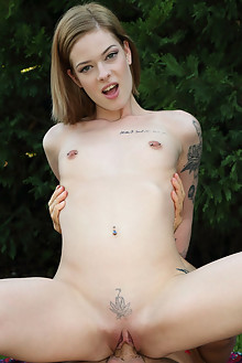 Totti and Lilien Ford in First Time outdoor blonde tattoo shaved pussy suck blowjob fuck lick fingering