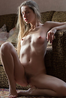 Mika A in Waiting For You by Marlene indoor blonde hairy