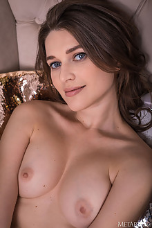 Serena Wood in All Year Long by Nudero indoor brunette blue ...