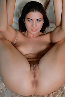 Alice Kelly in Bralette by Matiss indoor brunette brown eyes boobies shaved pussy ass