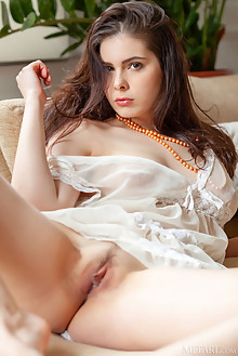 Amelie Belain in Curvy by DeltaGamma indoor brunette brown eyes boobies hairy trimmed pussy custom