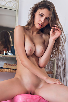 Mila Azul in Fernia by Alex Lynn indoor brunette green eyes boobies busty shaved tight pussy latest