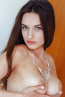 Gloria Sol in See You by Arkisi indoor brunette green eyes boobies busty shaved pussy labia pinky ass custom latest