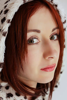 night a leo arkisi indoor redhead green eyes boobie shaved pussy