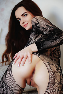 Maible in Transpare by Arkisi indoor brunette brown eyes sha...