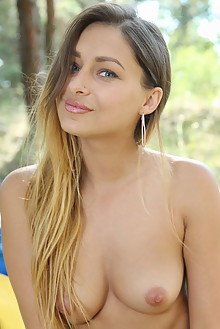 Yarina A in Satesi by Leonardo outdoor woods brunette blue eyes boobies shaved ass pussy latest