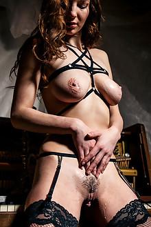 Anna Ferox in Wax Lyrical by Higinio Domingo indoor brunette boobies hairy trimmed pussy