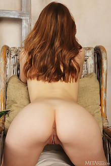 Jia Lissa in Dark Velvet by Flora indoor redhead green eyes small tits shaved pussy ass hips custom