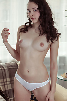 Presenting Solange by Albert Varin indoor brunette blue eyes boobies shaved pussy tight ass latest