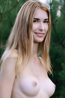 Aileen in Feelin Joy by Matiss outdoor sunny blonde brown eyes boobies shaved custom