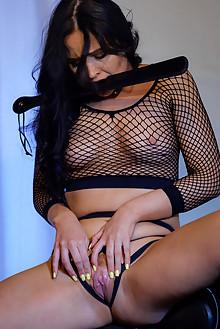 Gabby Bella in Hard Rider by Higinio Domingo indoor brunette boobies shaved pussy fingering