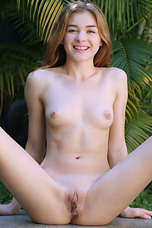 Kaleesy in Winning Smile by Dave Lee outdoor blonde brown eyes boobies shaved pussy custom