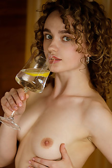 Felice in Perma by Albert Varin indoor brunette green eyes s...