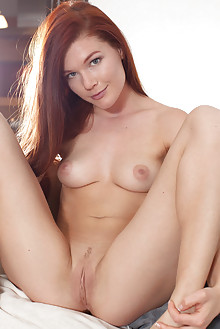 Mia Sollis in Miala by Koenart indoor redhead green eyes boobies shaved tight pussy latest