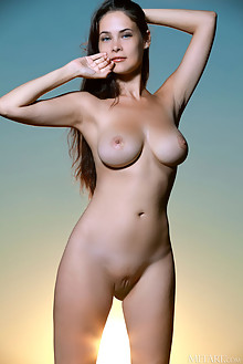 Martina Mink in Sunset by Matiss outdoor sunset sunny brunette blue eyes boobies busty shaved pussy custom