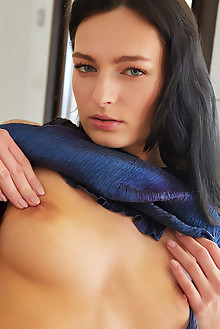 Lee Anne in Sultry by Erro indoor brunette green eyes black hair shaved pussy